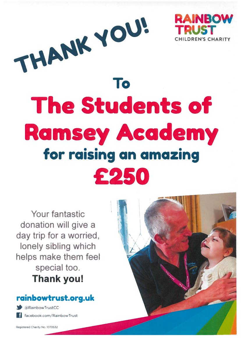Thank You from The Rainbow Trust