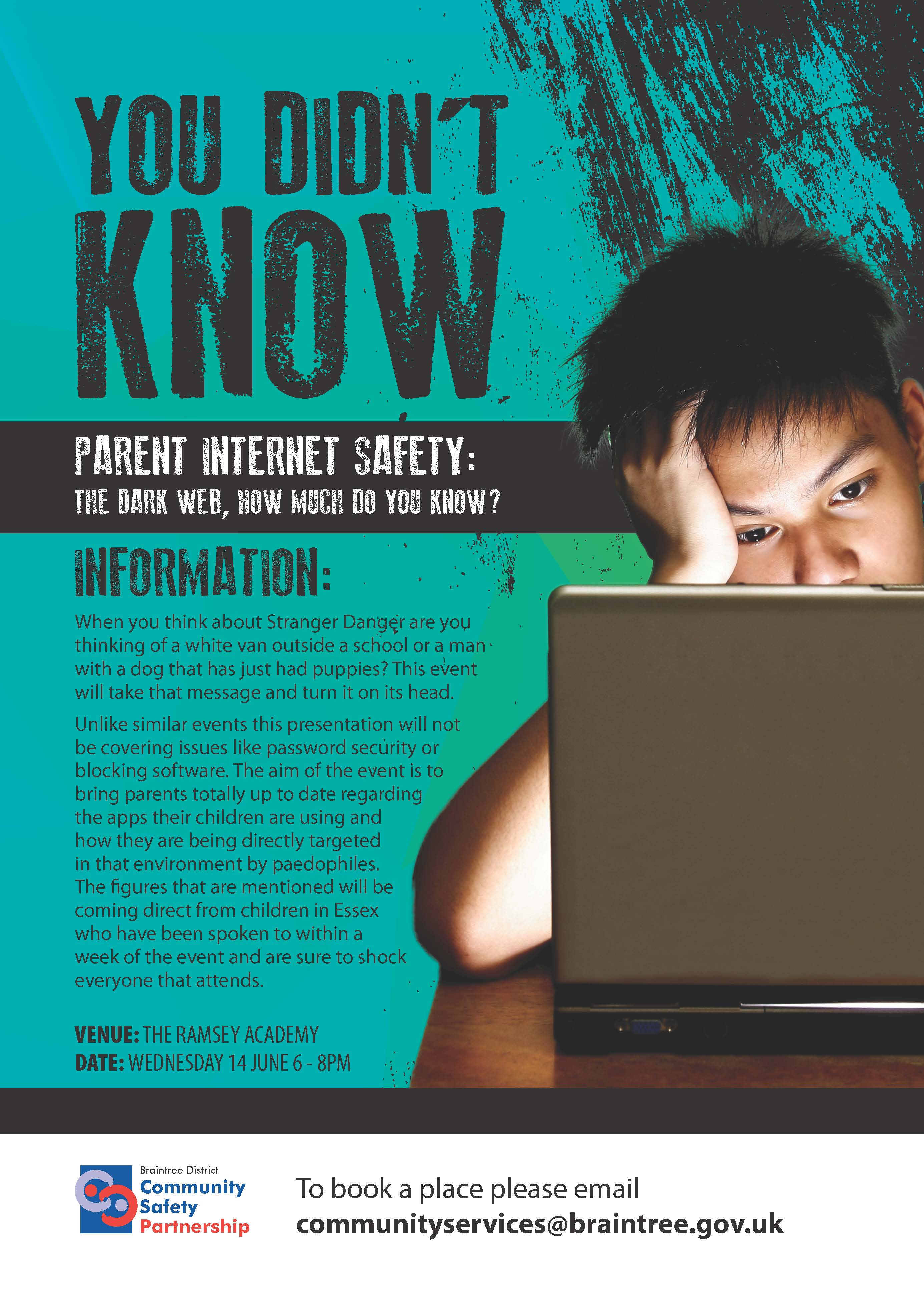 Social Media and Internet Safety Parents Workshop Wednesday 14 June 6pm - 8pm