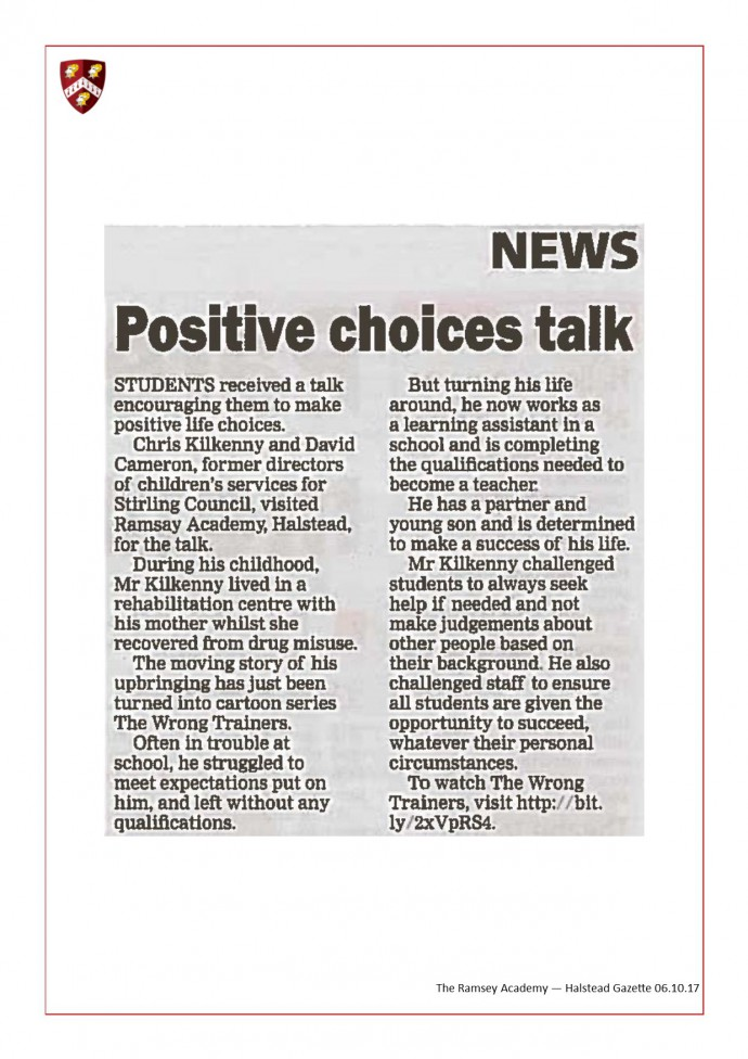 Positive Choice Talk 06.10.17