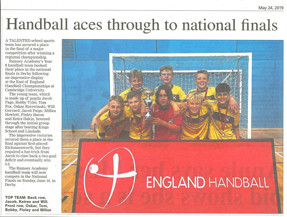 East of England Handball Champions