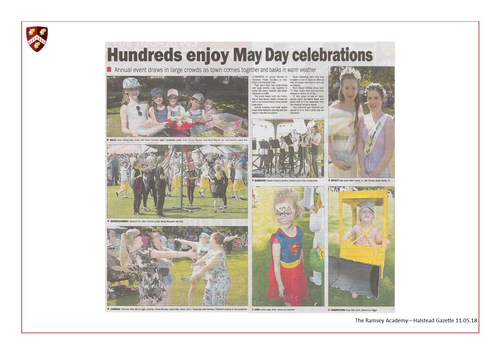 Hundreds Enjoy May Day Celebrations 11.05.18