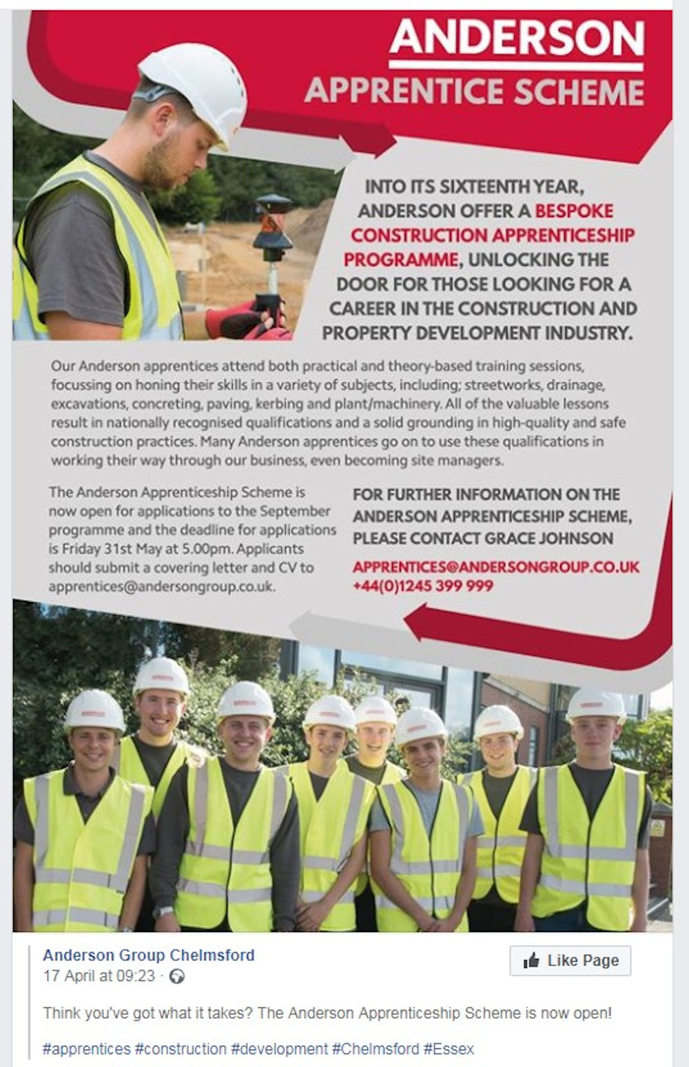 Construction Apprenticeship Scheme