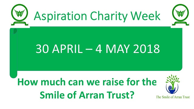 Aspiration Charity Week 30 April - 4 May 2018