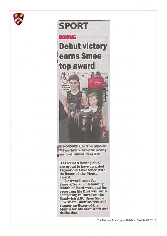 Debut Victory Earns Smee Top Award 09.02.18