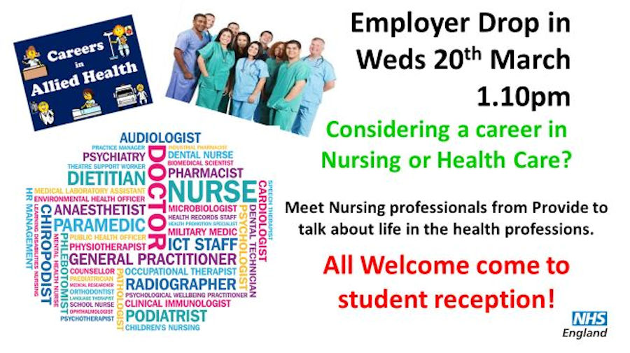 Employer drop in - Nursing and Healthcare