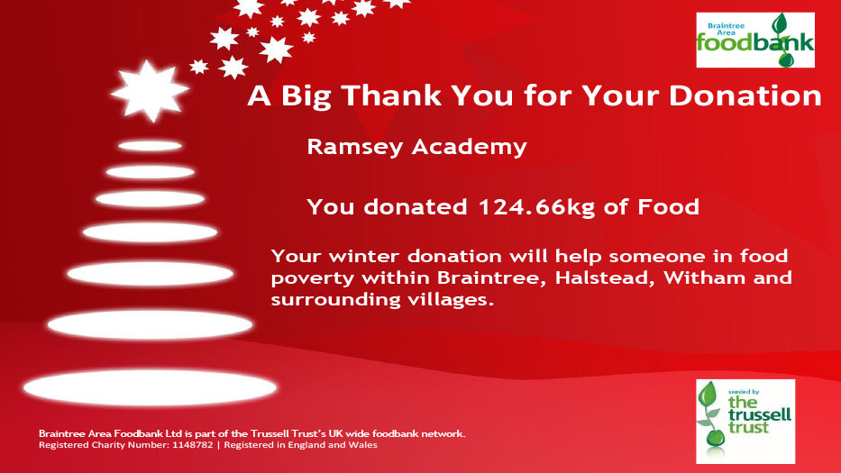 Foodbank, Thank you!