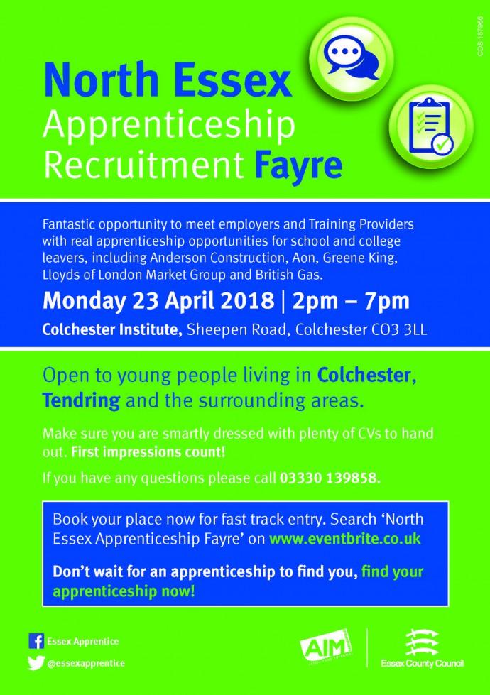 North Essex Apprenticeship Recruitment Fayre 23.04.18
