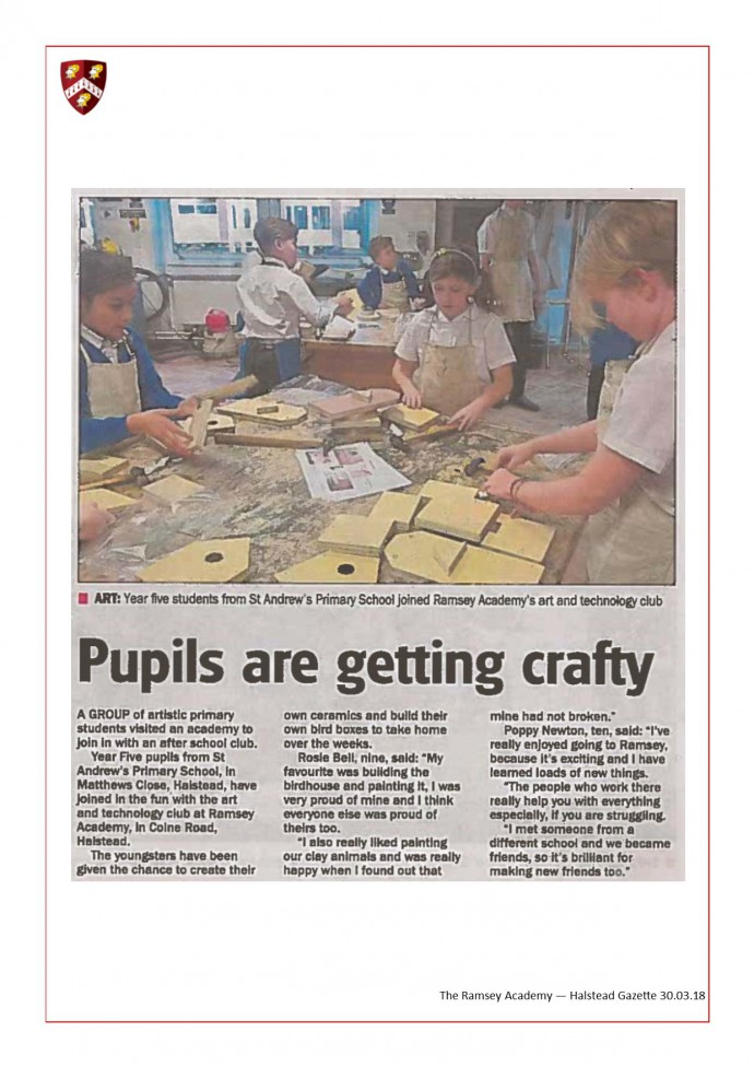 Pupils Are Getting Crafty 30.03.18