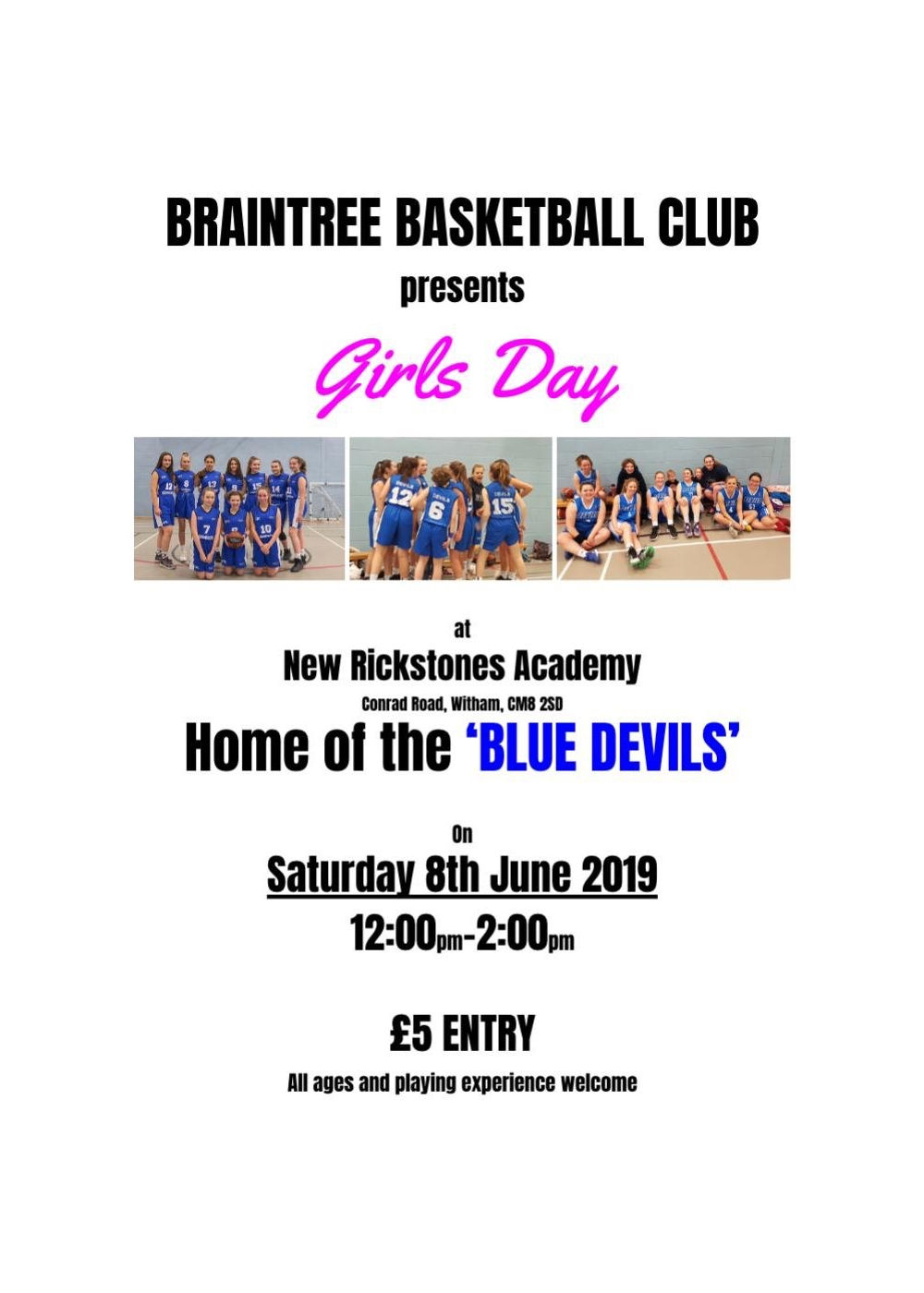 Braintree Basketball Girls Day